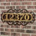LaRoyal House Number Plaque Gold/Bronze Four to Five Numbers, Four to Five Numbers, Gold/Bronze