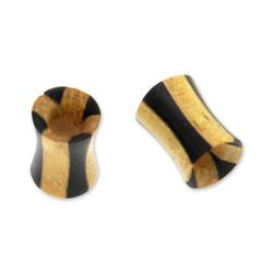 Wood ear plugs, 'Natural Duality'