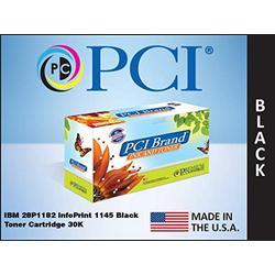 PCI Brand Remanufactured Toner Cartridge Replacement for IBM 28P1182 InfoPrint 1145 Black Toner Cartridge 30K Yield
