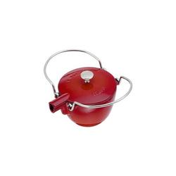 Staub Cast Iron 1-qt Round Tea Kettle Cast Iron/Enameled in Red, Size 6.0 H x 9.4 W x 8.7 D in | Wayfair 1650006