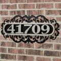 LaRoyal House Number Plaque Silver/Black Four to Five Numbers, Four to Five Numbers, Silver/Black