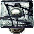 Atlas Homewares 3207-CH Glass Polished Chrome 1.5-Inch Eclipse Square Knob