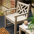 POLYWOOD® Chippendale Garden Arm Chair Plastic in Brown, Size 35.0 H x 25.75 W x 24.25 D in | Wayfair CDB24SA