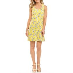 Crown & Ivy™ Yellow Floral Women's Sleeveless T-Shirt Dress