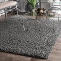"""nuLOOM Cozy Soft & Fluffy Solid Shag Area Rug, 9' 2"""" x 12', Grey"""