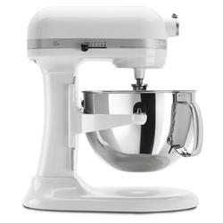 KitchenAid Professional 600 Series 10 Speed 6 Qt. Stand Mixer in White, Size 17.0 H x 7.25 W x 14.6 D in   Wayfair KP26M1XWH