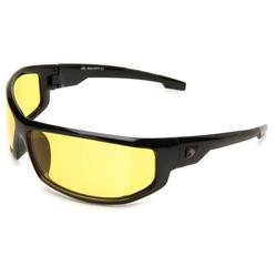 Bobster AXL Wrap Sunglasses, Black Frame/Yellow Anti-fog Lens