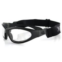 Bobster GXR Sport Sunglasses,Black Frame/Clear Lens,one size