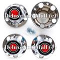 DeluxeAuto 5 LUGS New Chrome Wheel Center Caps (Set of 4) with 12 Screws is Compatible with 1978-1996 Ford F150 / Full Size Bronco & E-150