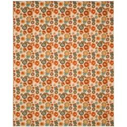 Safavieh Metropolis Floral Beige/Area Rug Nylon in Orange, Size 96.0 W x 0.25 D in | Wayfair MTP523-1391-4
