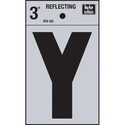 Hy-Ko 4 in. Sticker House LetterVinyl in Black, Size 4.0 H x 2.5 W x 0.01 D in   Wayfair RV-50/Y