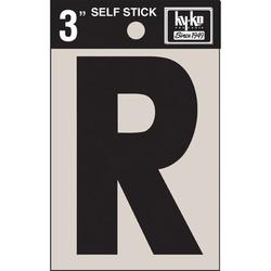 Hy-Ko 4 in. Sticker House LetterVinyl in Black, Size 4.0 H x 2.5 W x 0.01 D in   Wayfair 30428