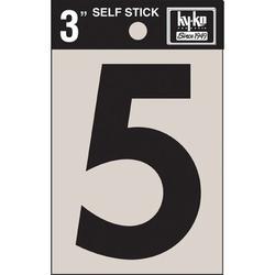 Hy-Ko 7 in. Sticker House NumberVinyl in Black, Size 7.0 H x 3.6 W x 0.2 D in   Wayfair 30405