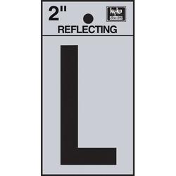Hy-Ko 3 in. Sticker House LetterVinyl in Black/Gray, Size 3.0 H x 1.2 W x 0.01 D in | Wayfair RV-25/U
