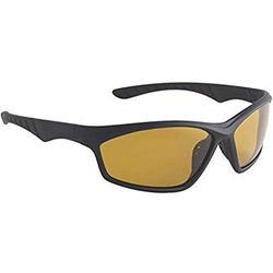 Fisherman Eyewear Delta Polarsensor Sunglass, Matte Black Frame (Amber Polarized Lens) Large