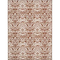 Safavieh Metropolis Animal Print Area Rug Nylon in Brown, Size 120.0 H x 96.0 W x 0.25 D in   Wayfair MTP527-1125-4
