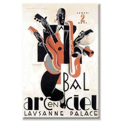 Buyenlarge Bal Arcenciel Vintage Advertisement on Wrapped CanvasCanvas & Fabric in Black/Brown/Orange, Size 30.0 H x 20.0 W x 1.5 D in   Wayfair