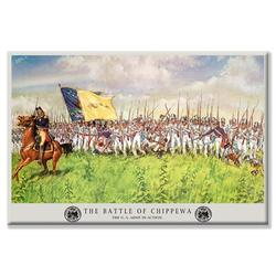 Buyenlarge 'Battle of ChippewaH. Charles McBarron Jr' Painting Print on Wrapped CanvasCanvas & Fabric in White, Size 24.0 H x 36.0 W x 1.5 D in
