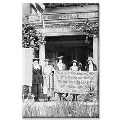 Buyenlarge 'Suffragettes Displeased over Womens Party Platform' Photographic Print on Wrapped CanvasCanvas & Fabric in Black/Brown/White | Wayfair