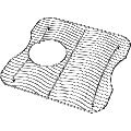 "Elkay LKWOBG1716SS 14-1/4"" L x 14-1/4"" W Stainless Steel Basin Rack Stainless Steel"