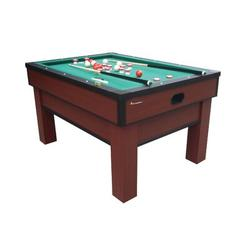 Atomic Game Tables Atomic 4.8' Bumper Pool Table Manufactured Wood in Brown/Green/Red, Size 31.75 H x 57.5 W x 41.5 D in   Wayfair G02251AW