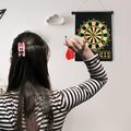 Trademark Games Magnetic Roll-up Dart Board & Bullseye Game w/ Darts in Black, Size 18.5 H x 16.0 W x 1.0 D in | Wayfair 15-7637