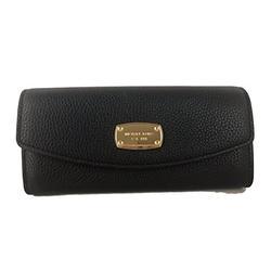 Michael Kors Item Slim Flap Wallet Black Leather