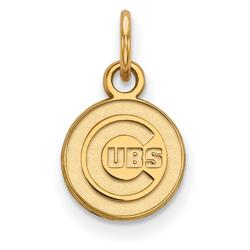 """""""Women's Chicago Cubs 10k Yellow Gold Extra Small Pendant"""""""