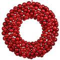 "Vickerman 24750 - 36"" Red Colored Ball Wreath (N114603) Christmas Wreath Ornament"