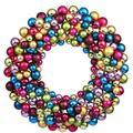 "Vickerman 24748 - 36"" Multi Colored Ball Wreath (N114600) Christmas Wreath Ornament"