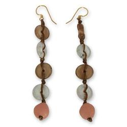 'Peachy Pretty' - Fair Trade African Recycled Glass Earring
