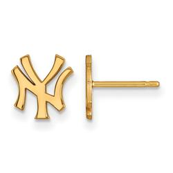 """""""Women's New York Yankees 10k Yellow Gold Extra Small Team Post Earrings"""""""
