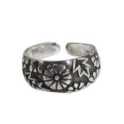'A Walk in the Garden' - Hand Made Floral Sterling Silver Toe Ring
