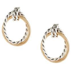 Bay Studio Two Tone Rope Oval Drop Earrings