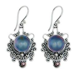'Bandung Blue Moon' - Indonesian Sterling Silver and Pear