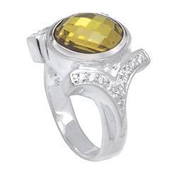 Kameleon CZ Shank Ring Size 8 Jewelpop Authentic Silver New KR04size8
