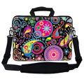 """Meffort Inc 17 17.3 inch Neoprene Laptop Bag Sleeve with Extra Side Pocket, Soft Carrying Handle & Removable Shoulder Strap for 16"""" to 17.3"""" Size Notebook Computer - Colorful Arts"""