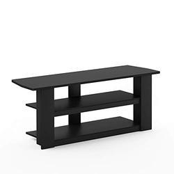 "Furinno Parsons 42-in TV Entertainment Center, Standard 42.1""(W) x16.5(H) x13.4(D), Black"