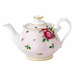 Royal Albert New Country Roses 3 Piece Teapot Set Bone China in Pink, Size 6.0 H x 14.3 W in | Wayfair 652383739185