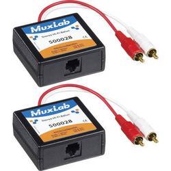 MuxLab Stereo Hi-Fi 2-Pack RCA Balun Kit 500028-2PK