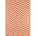 """Momeni Rugs , Baja Collection Contemporary Indoor & Outdoor Area Rug, Easy to Clean, UV protected & Fade Resistant, 6'7"""" x 9'6"""", Orange"""
