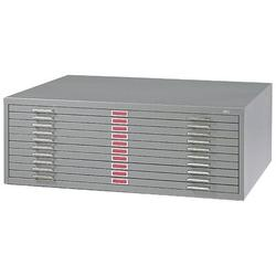 Safco Products Company Ten-Drawer Flat File Filing Cabinet Metal in Gray, Size 16.5 H x 46.375 W x 35.375 D in   Wayfair 4986GR