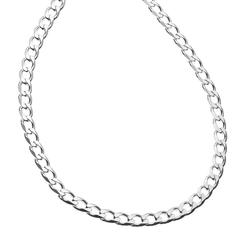 """""""PRIMROSE Sterling Silver Curb-Link Chain Necklace, Women's, Size: 20"""""""", Grey"""""""