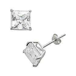 Renaissance Collection 10k White Gold 1 4/5-ct. T.W. Cubic Zirconia Stud Earrings - Made with Swarovski Zirconia, Women's, Yellow