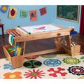 KidKraft Drying Rack and Storage Art Table, Multicolor
