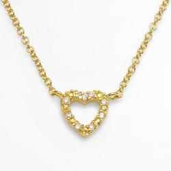 """""""Sophie Miller 14k Gold Over Silver Cubic Zirconia Heart Link Necklace, Women's, Size: 18"""""""", White"""""""