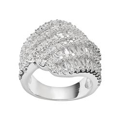 Sophie Miller Sterling Silver Cubic Zirconia Wrap Ring, Women's, Size: 5, White