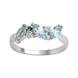 Traditions Jewelry Company Round Blue Topaz Ring, Women's, Size: 9