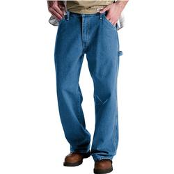 Men's Dickies Relaxed Fit Denim Carpenter Jeans, Size: 33X34, Blue