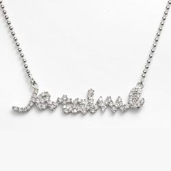 """""""Sophie Miller Sterling Silver Cubic Zirconia Je T'aime Necklace, Women's, Size: 16"""""""", White"""""""